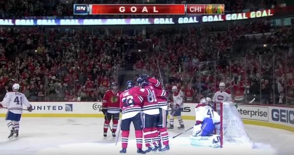 Chicago Blackhawks goal vs Canadiens
