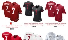 Colin Kaepernick Jerseys No Longer on Clearance at 49ers Online Shop