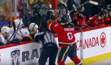 Flames' Dennis Wideman Drilled a Referee From Behind (Video)