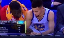 Watch Draymond Green Pass Steph Curry an Imaginary Joint on the Warriors Bench (Video)