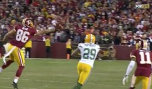 Jordan Reed Saves Kirk Cousins From INT With Crazy One-Handed Grab (Video)