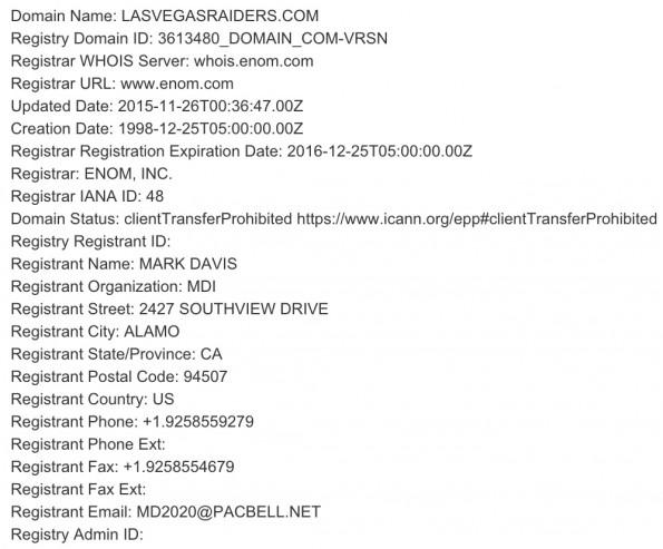 Las Vegas Raiders domain 2