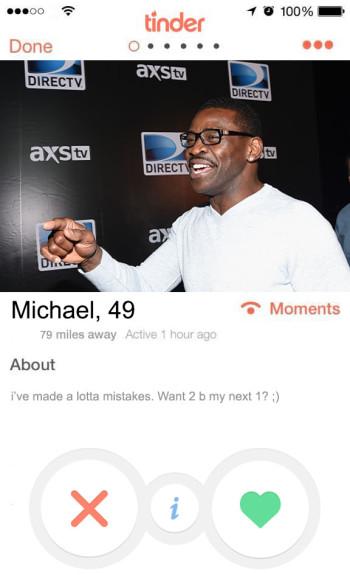 NFL  tinder profiles - michael irvin