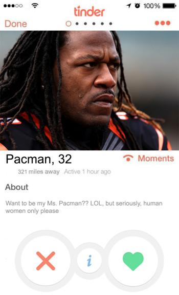 NFL  tinder profiles - pacman jones
