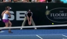 Female Tennis Player Throws Racket in Anger, Hits Ball Boy, Makes Opponent Cry (Video)