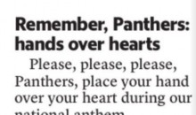 Panthers Fan Writes Ridiculous Letter to the Charlotte Observer About Sunday's Anthem