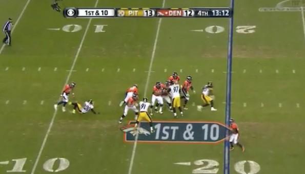 Peyton Manning fake slide