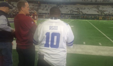 Robert Griffin III's Uncle Wore A Custom 'RGIII' Cowboys Jersey On the Sideline (Pics)