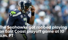 Seattle Seahawks Fans Are Blaming A 10am PST Start For The Loss To The Panthers