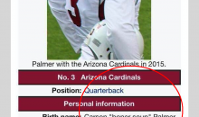 Carson Palmer Gets A Hilarious Birth Name Update On Wikipedia (PIC)