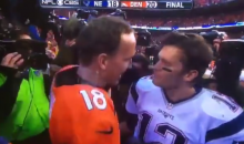Cameras Record Manning Taking Cheap Shots At Brady During Postgame Handshake (Video)