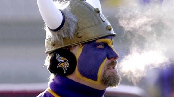 Vikings Fan Freezing