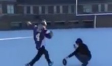 Vikings Fan Shows Blair Walsh How It's Done By Kicking 27-Yard Field-Goal at the Park (Video)
