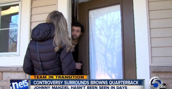 WEWS Reporter at Johnny Manziel's House