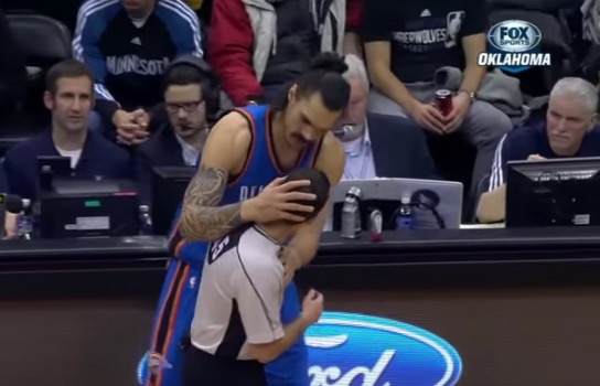 The Thunder's Steven Adams Smacked a Ref in the Head While ...