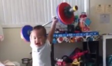 This Weightlifting Baby Is Cute and Terrifying at the Same Time (Video)