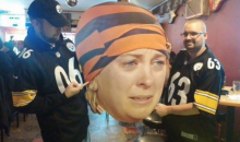 Steelers Fans Still Reveling in their Bengals Win with this Cutout of 'Crying Bengals Fan' (Pic)