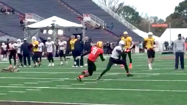 braxton miller shows off sick moves senior bowl practice