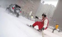 Epic Video Shows Film Maker Snowboarding Through Streets of New York (Videos)