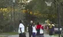Cop Gets a Noise Complaint about Kids Playing Basketball, Joins Them (Video)