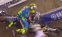 Fight Breaks Out After Intentional Crash In Supercross Race (Video)