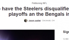 Bengals Fans Create Petition To Get Steelers Disqualified From The Playoffs