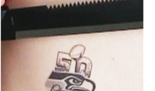 "Seahawks Fan Removes ""Super Bowl 50 Champs"" Tattoo After Online Bullying (Video)"