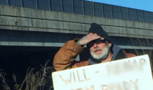 Denver Homeless Man Has An Option To Stop Brady For Spare Change (PIC)