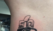 This Seahawks Fan Immediately Regrets This Super Bowl 50 Champs Tattoo (Vid)