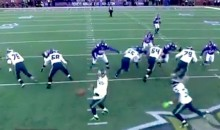 German Play-by-Play of Russell Wilson's Crazy Fumble-Scramble-Completion Is Amazing (Video)