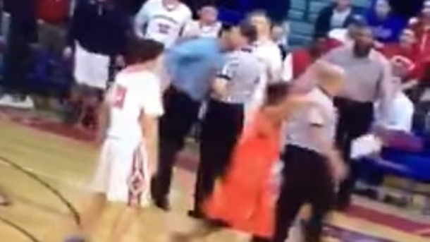 high school basketbal coach headbutts referee
