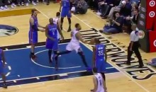 It's a Shame This Karl Anthony-Towns No-Look Shot Didn't Count (Video)