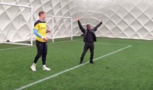 Kevin Hart Squares Off Against England Keeper Joe Hart (Video)