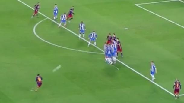 lionel messi scores amazing free kick goal lionel messi free kick goal