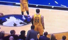Male Fan Pokes Cleveland Cavaliers Timofey Mozgov On His Butt During Game (Video)