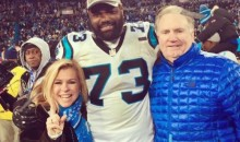 "Michael Oher Celebrated the Panthers' Super Bowl Berth With His ""Blind Side"" Family (Pic)"