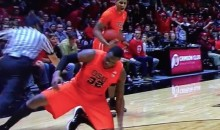 Oregon State Basketball Player Jarmal Reid Ejected for Tripping the Referee (Video)