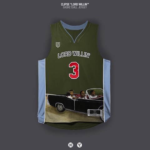 rap albums as nba jerseys - clipse lord willin