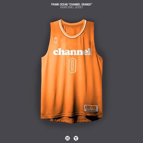 rap albums as nba jerseys - frank ocean channel orange