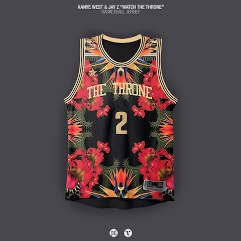 rap albums as nba jerseys - jay z kanye west watch the throne