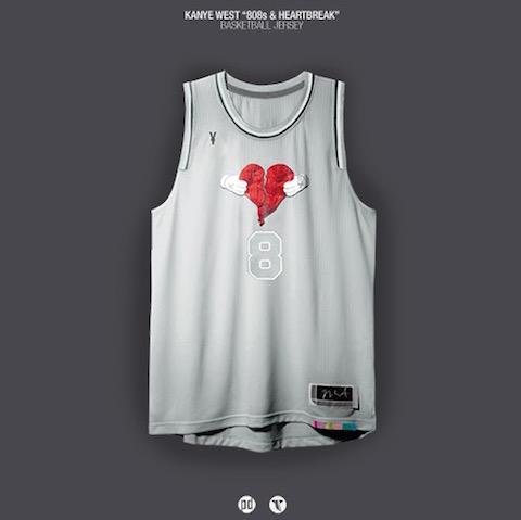 rap albums as nba jerseys - kanye west 808s