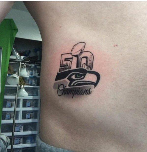 Regrets This Super Bowl 50 Champs Tattoo Vid Total Pro Sports