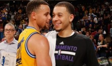 Brotherly Love: Steph Curry Hugs Brother Seth Curry Before Game, Makes Him Look Silly During Game (Video)