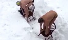 West Virginia Swimmers Had an Interesting Training Day During the Blizzard (Video)