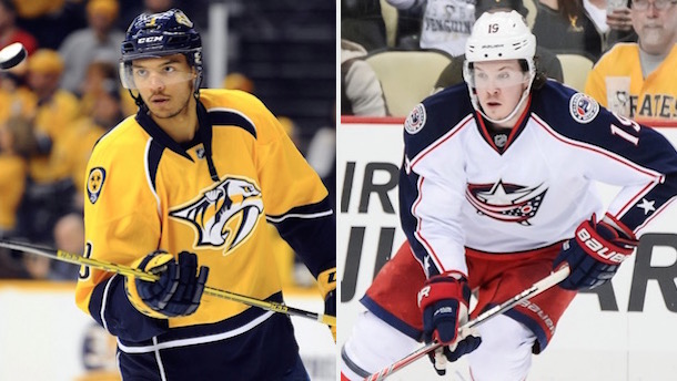 traded for each other seth jones and ryan johansen airport
