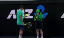 Jo-Wilfried Tsonga Stopped Play at Aussie Open to Help Ball Girl Hit by Ball (Video)