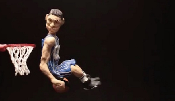 Aaron Gordon claymation dunk