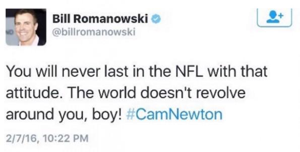 Bill Romanowski tweet