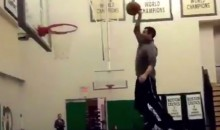 Celtics Coach Brad Stevens Performs Trampoline Dunk (Video)