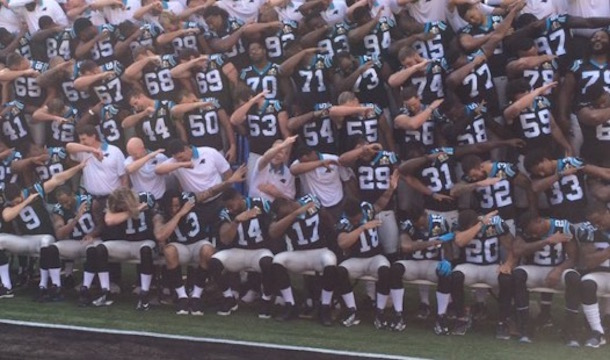Carolina Panthers Dab Super Bowl Team Picture